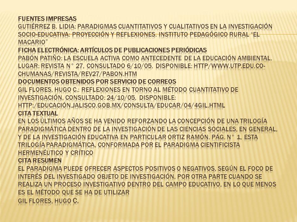 Fuentes Impresas Gutiérrez B