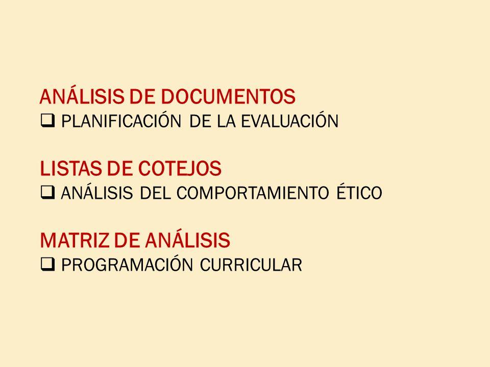 ANÁLISIS DE DOCUMENTOS