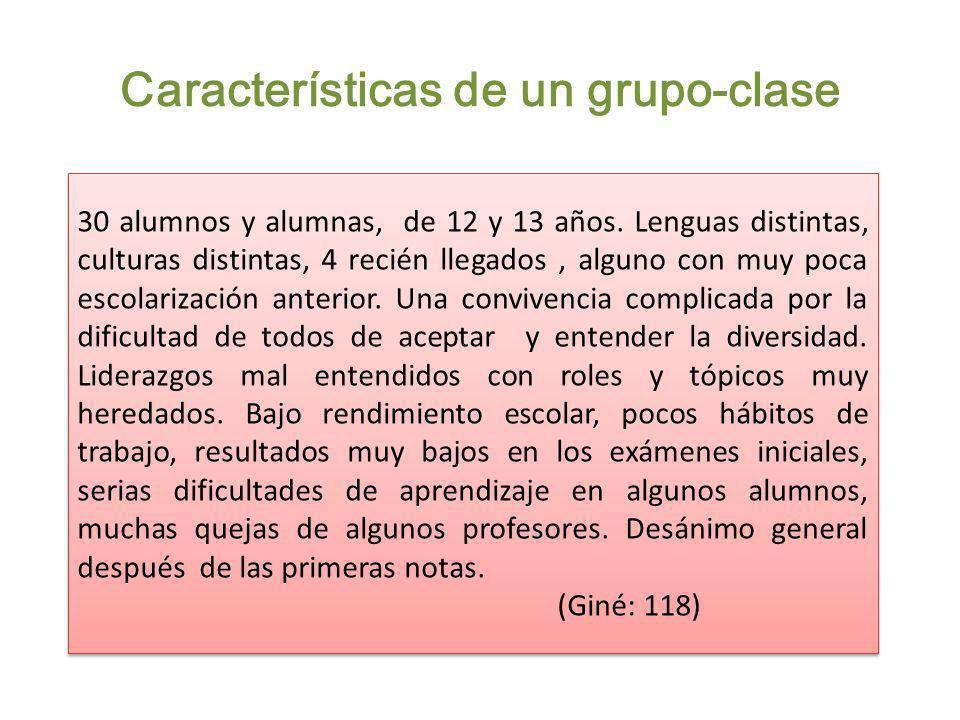 Características de un grupo-clase