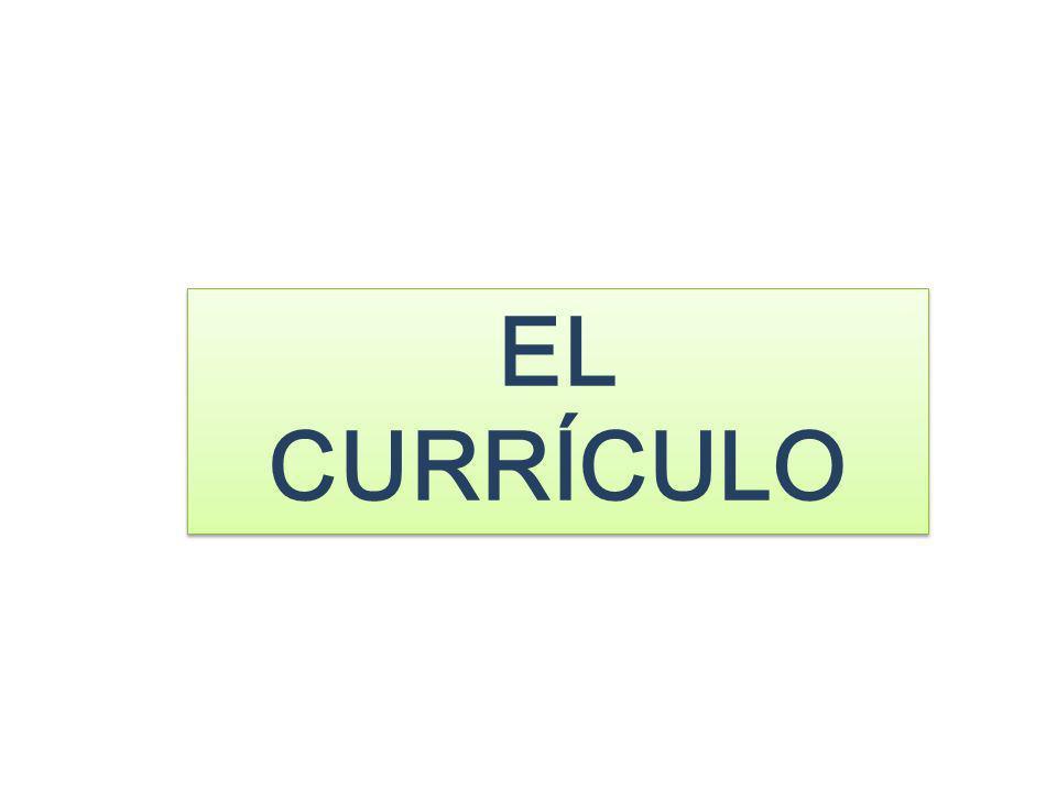 EL CURRÍCULO
