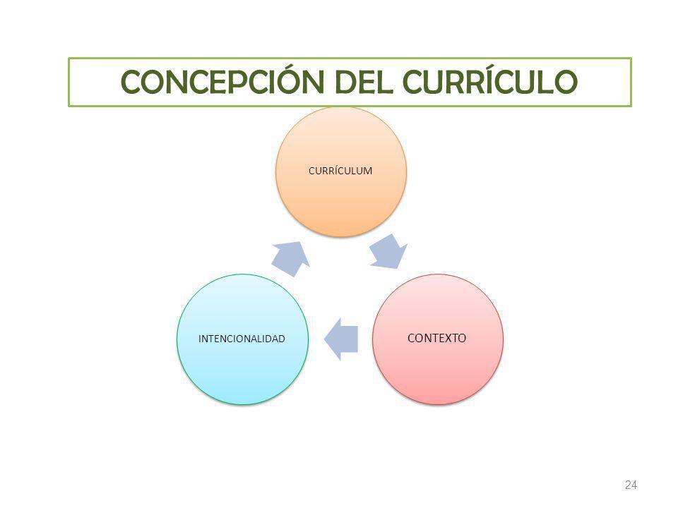 CONCEPCIÓN DEL CURRÍCULO