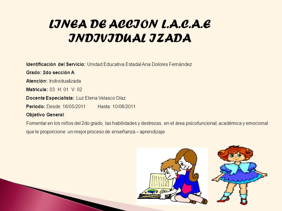 LINEA DE ACCION L.A.C.A.E INDIVIDUAL IZADA
