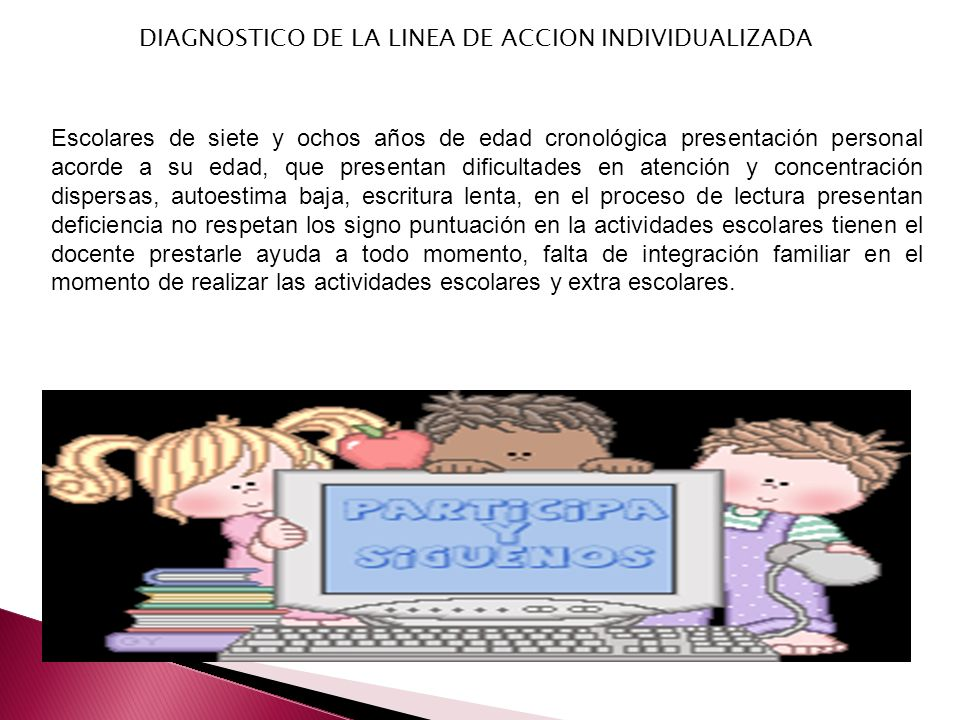 DIAGNOSTICO DE LA LINEA DE ACCION INDIVIDUALIZADA