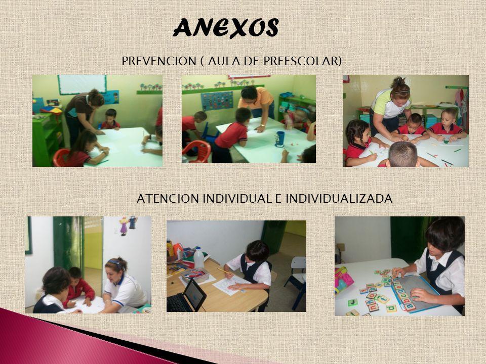 ANEXOS PREVENCION ( AULA DE PREESCOLAR)