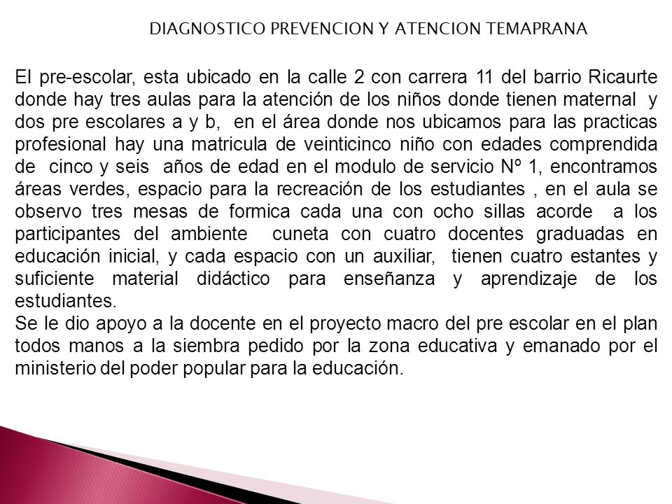 DIAGNOSTICO PREVENCION Y ATENCION TEMAPRANA