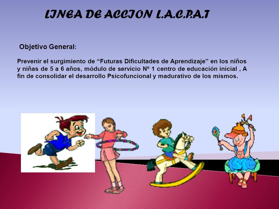 LINEA DE ACCION L.A.C.P.A.T Objetivo General: