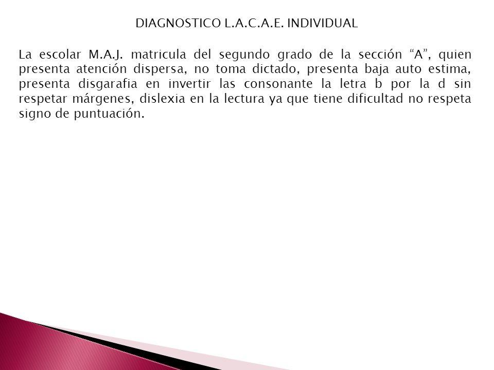 DIAGNOSTICO L.A.C.A.E. INDIVIDUAL