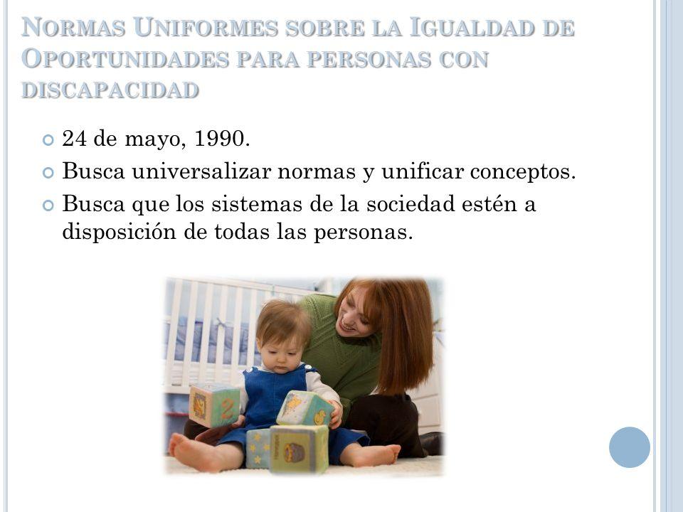 Normas Uniformes sobre la Igualdad de Oportunidades para personas con discapacidad