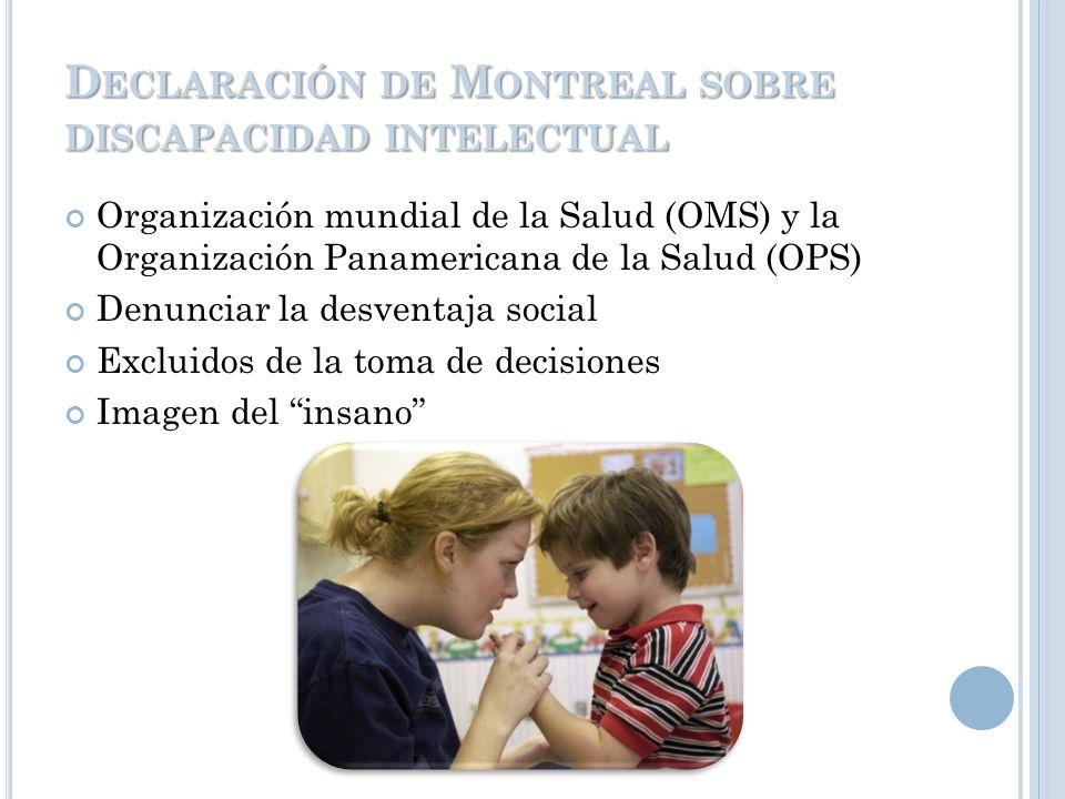 Declaración de Montreal sobre discapacidad intelectual