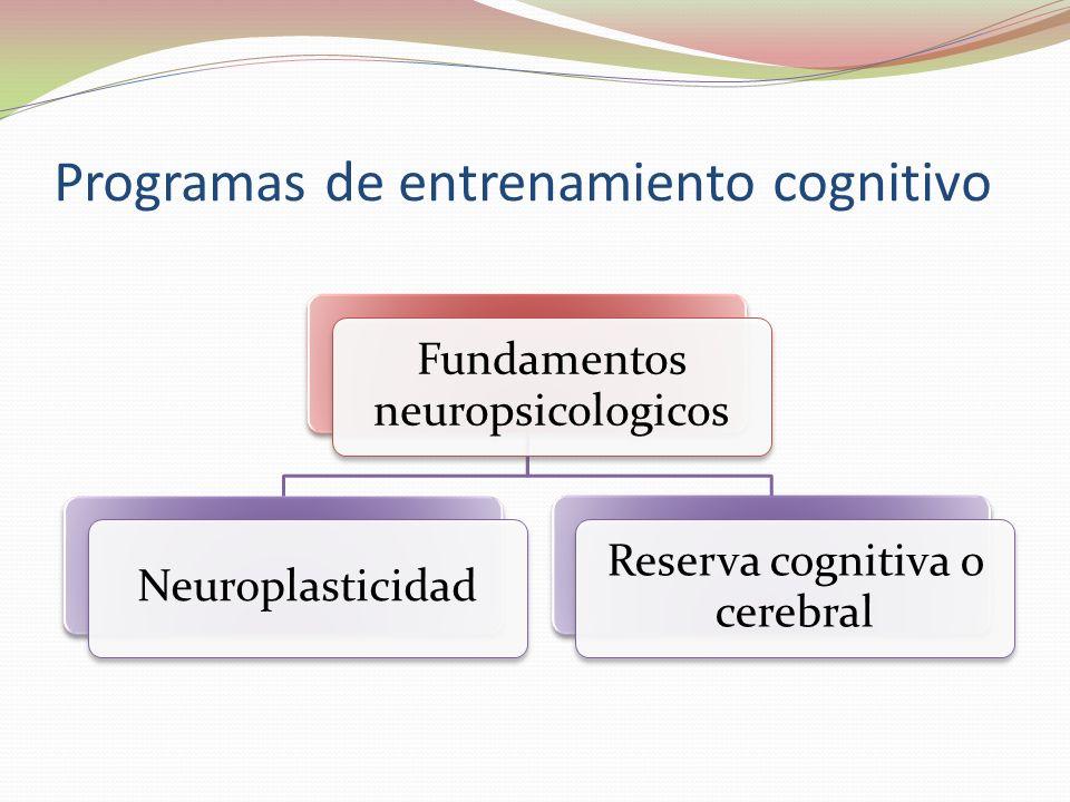 Programas de entrenamiento cognitivo