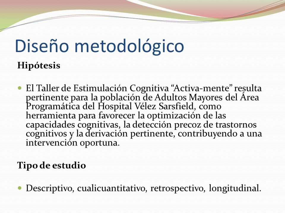 Diseño metodológico Hipótesis