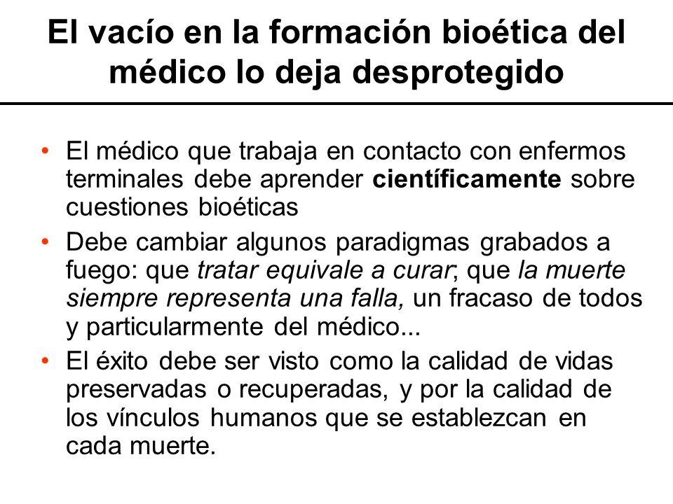 El vacío en la formación bioética del médico lo deja desprotegido