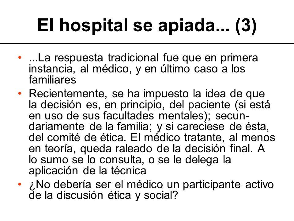 El hospital se apiada... (3)