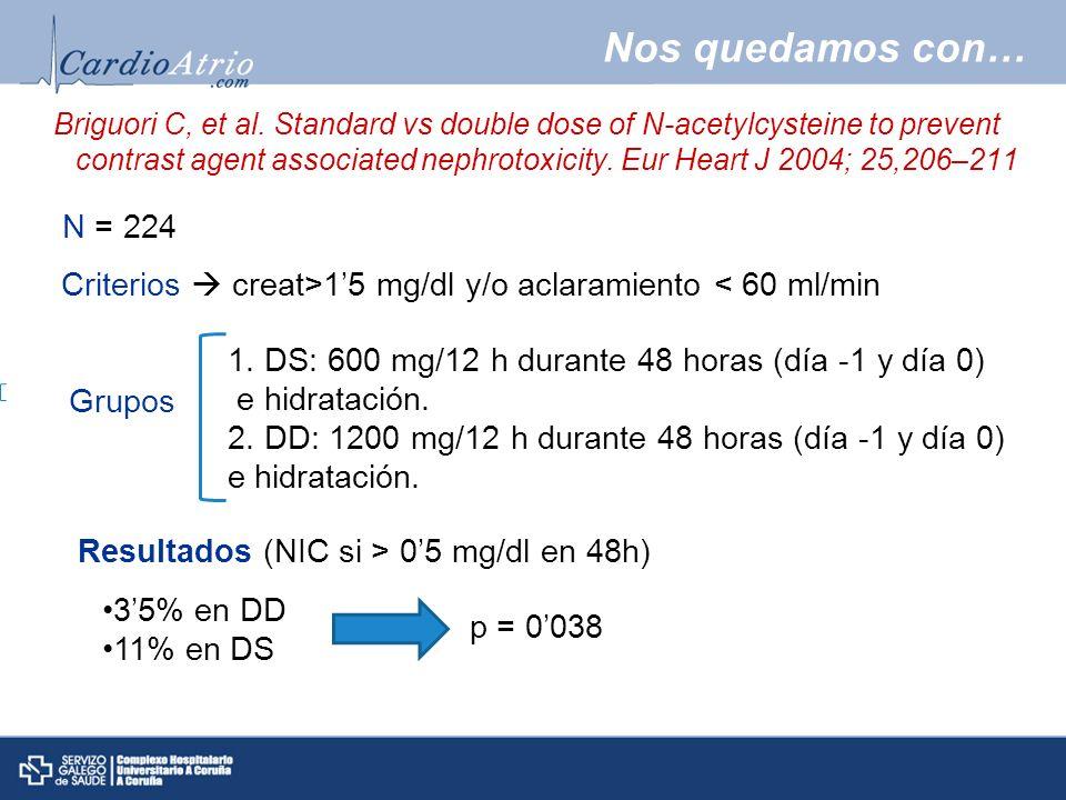 Resultados (NIC si > 0'5 mg/dl en 48h)