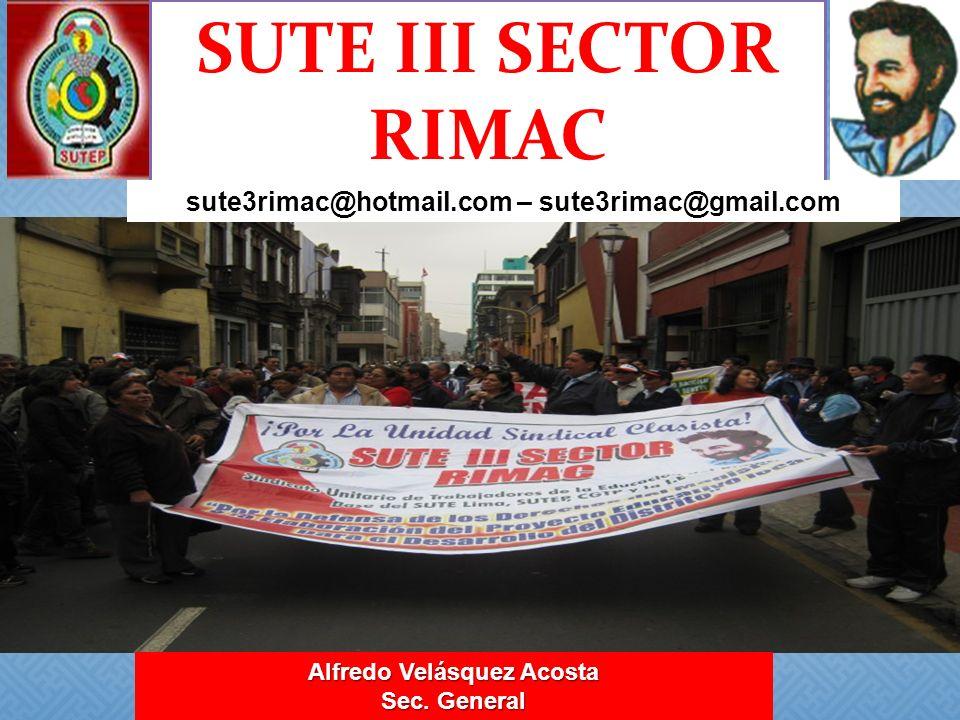 sute3rimac@hotmail.com – sute3rimac@gmail.com Alfredo Velásquez Acosta