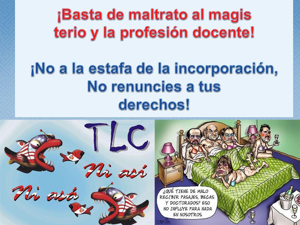 ¡Basta de maltrato al magis terio y la profesión docente
