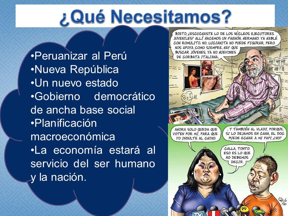 ¿Qué Necesitamos Peruanizar al Perú Nueva República Un nuevo estado