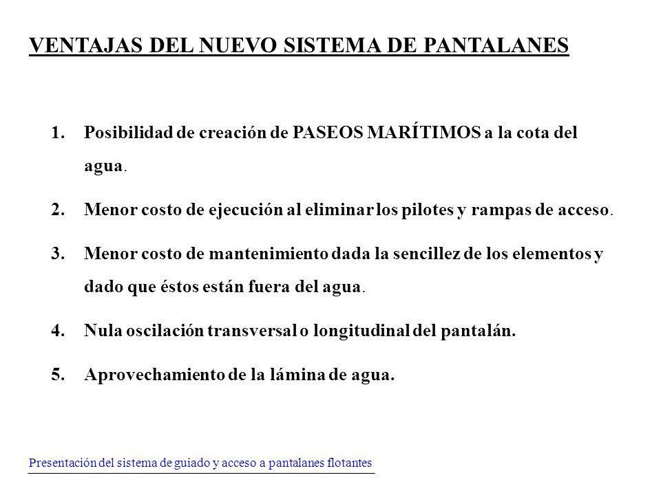 VENTAJAS DEL NUEVO SISTEMA DE PANTALANES