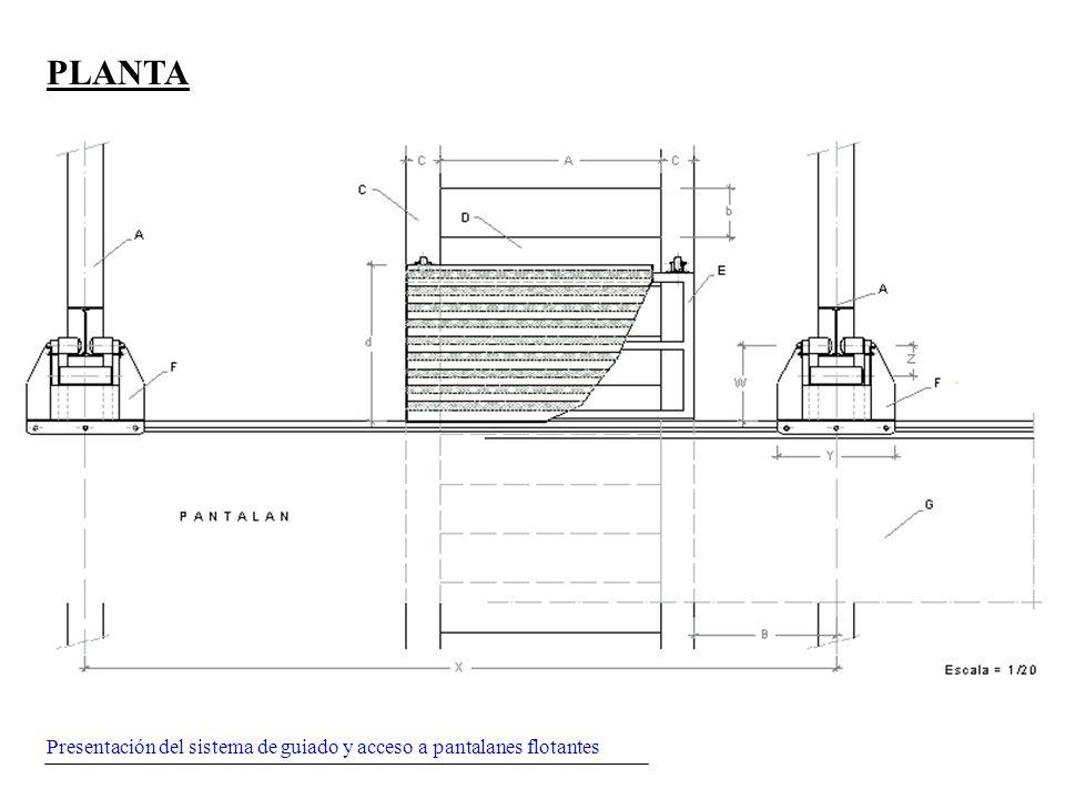 PLANTA Presentación del sistema de guiado y acceso a pantalanes flotantes