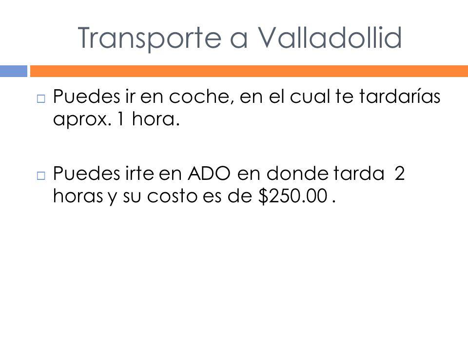 Transporte a Valladollid