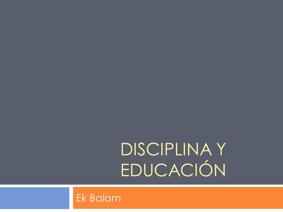 Disciplina y educación