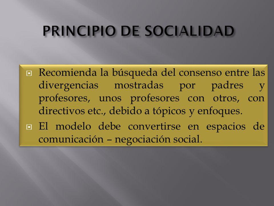PRINCIPIO DE SOCIALIDAD