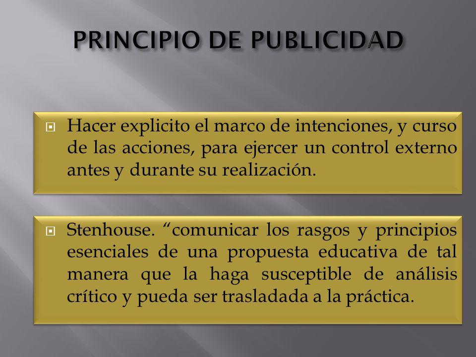 PRINCIPIO DE PUBLICIDAD