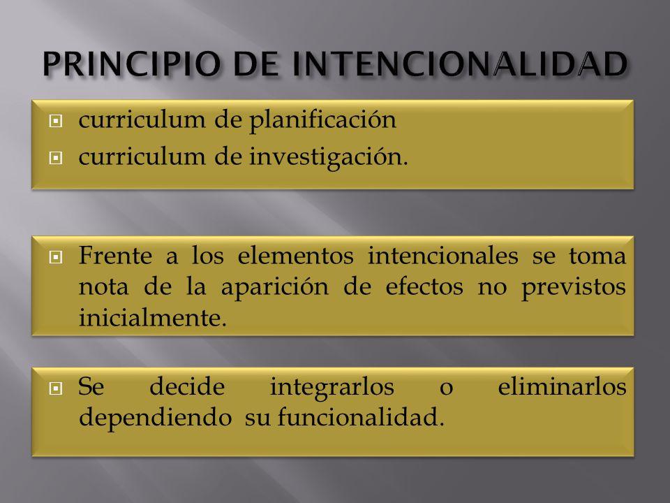 PRINCIPIO DE INTENCIONALIDAD