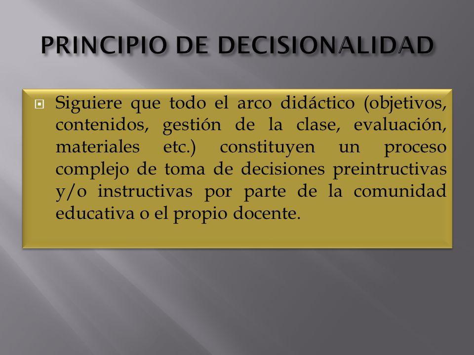 PRINCIPIO DE DECISIONALIDAD