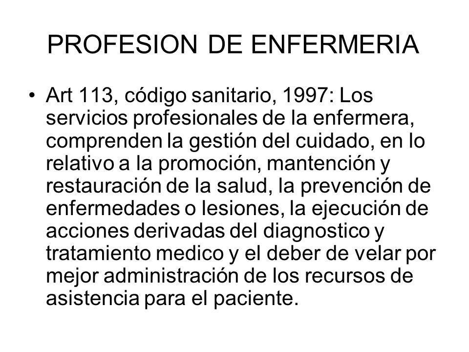 PROFESION DE ENFERMERIA