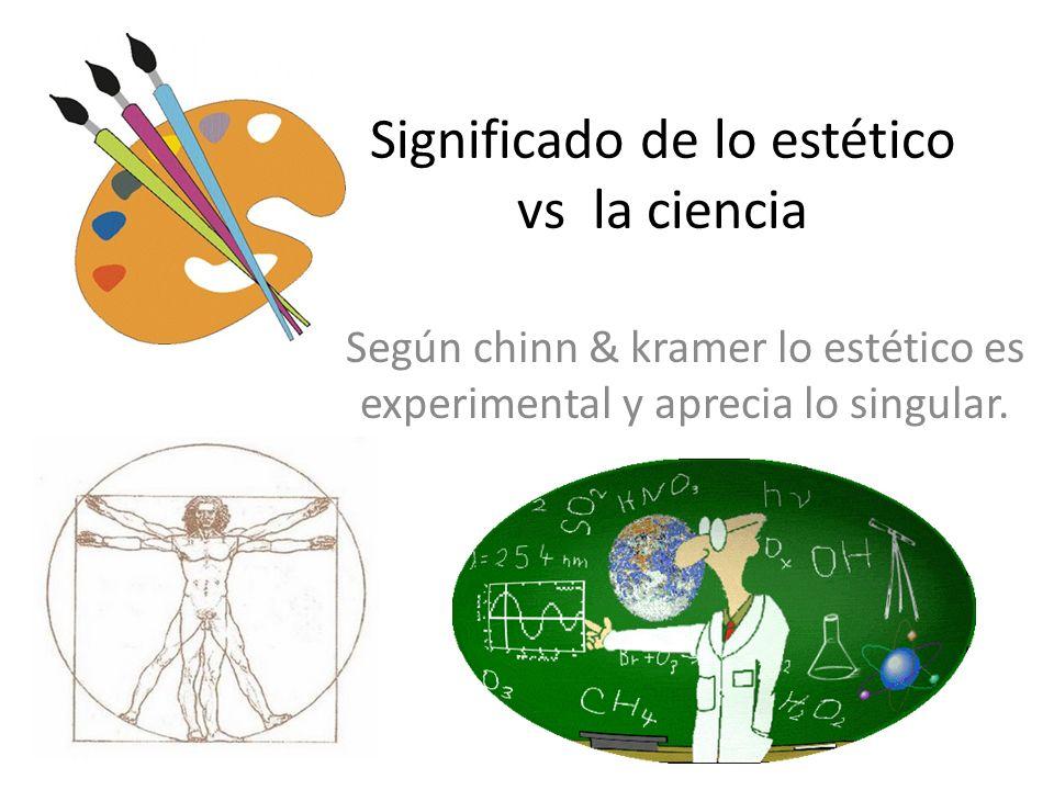 Significado de lo estético vs la ciencia