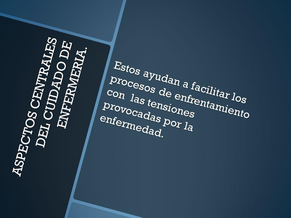 ASPECTOS CENTRALES DEL CUIDADO DE ENFERMERIA.
