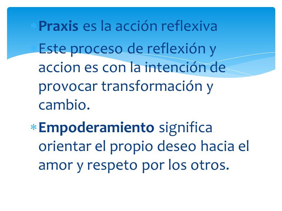 Praxis es la acción reflexiva