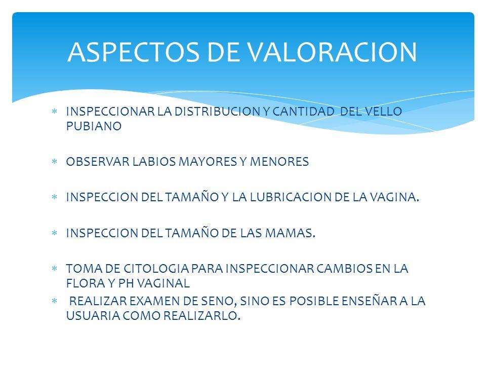 ASPECTOS DE VALORACION