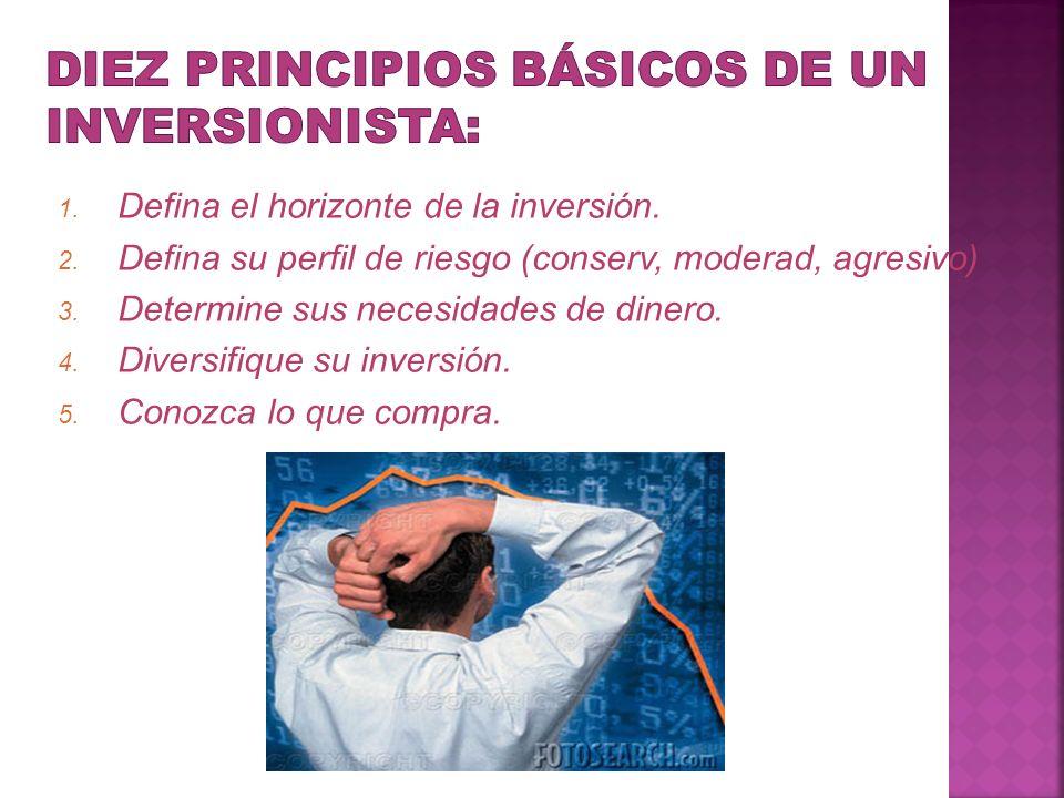 Diez principios básicos de un inversionista: