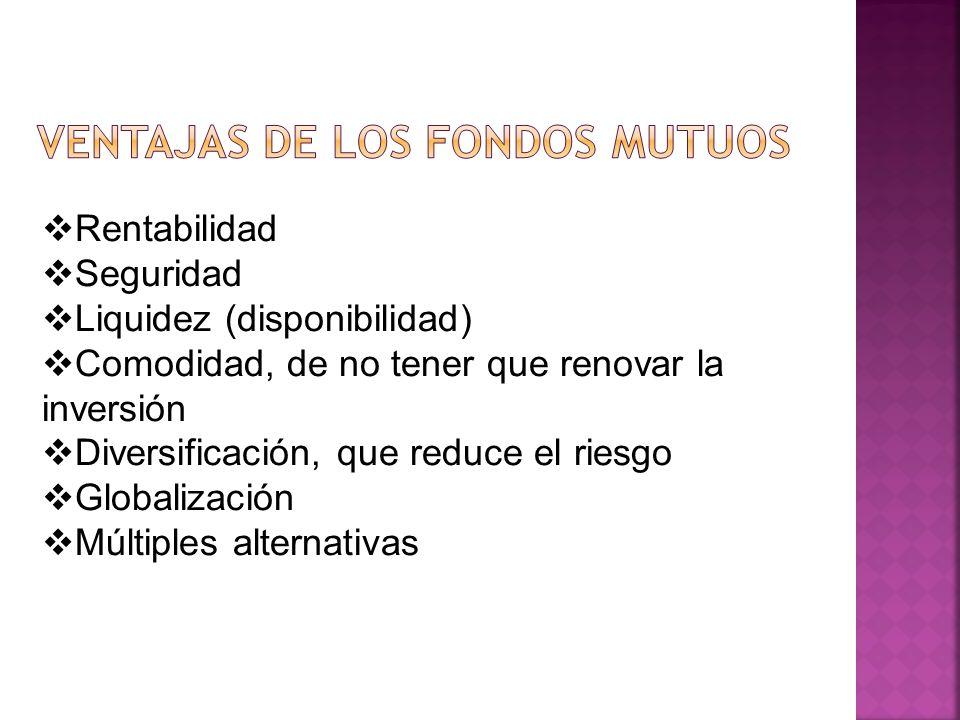 VENTAJAS DE LOS FONDOS MUTUOS