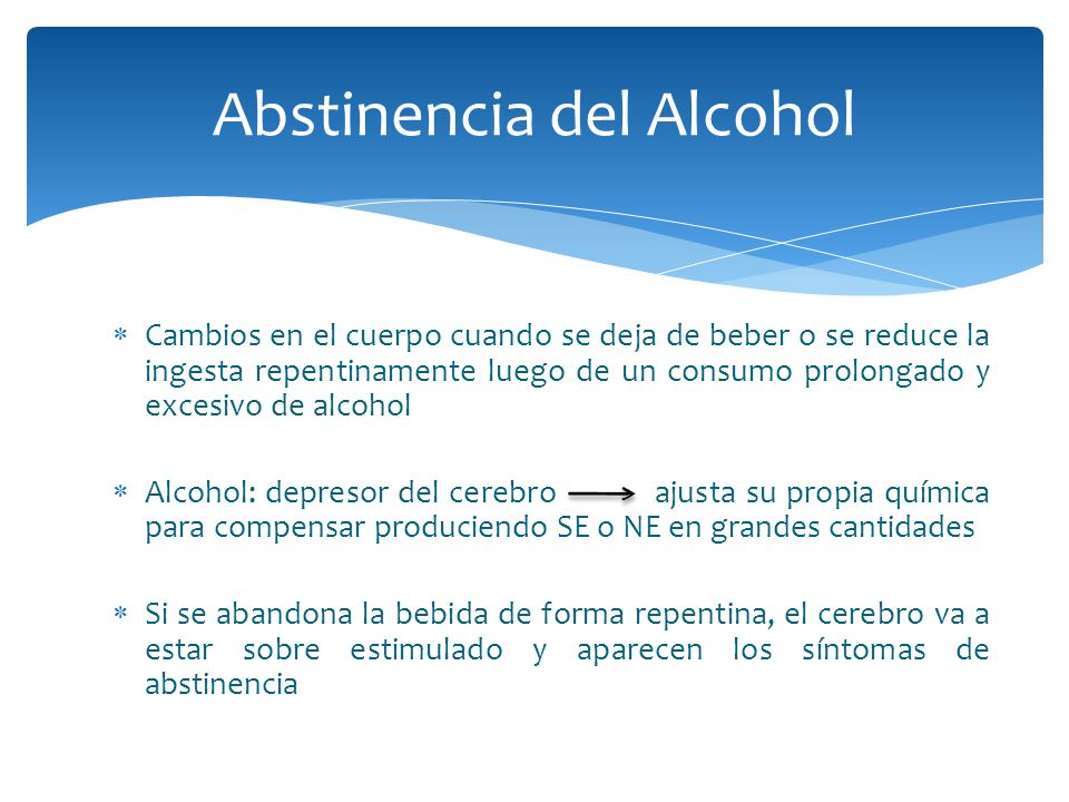 Abstinencia del Alcohol