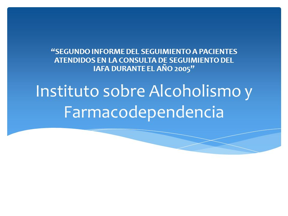 Instituto sobre Alcoholismo y Farmacodependencia