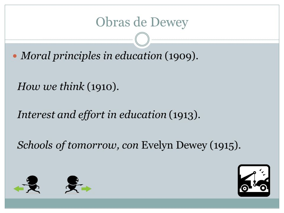 Obras de Dewey Moral principles in education (1909).