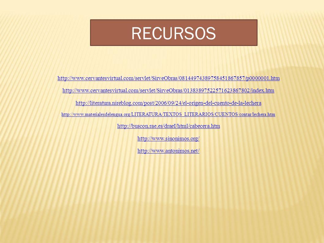 RECURSOS http://www.cervantesvirtual.com/servlet/SirveObras/08144974389758451867857/p0000001.htm.