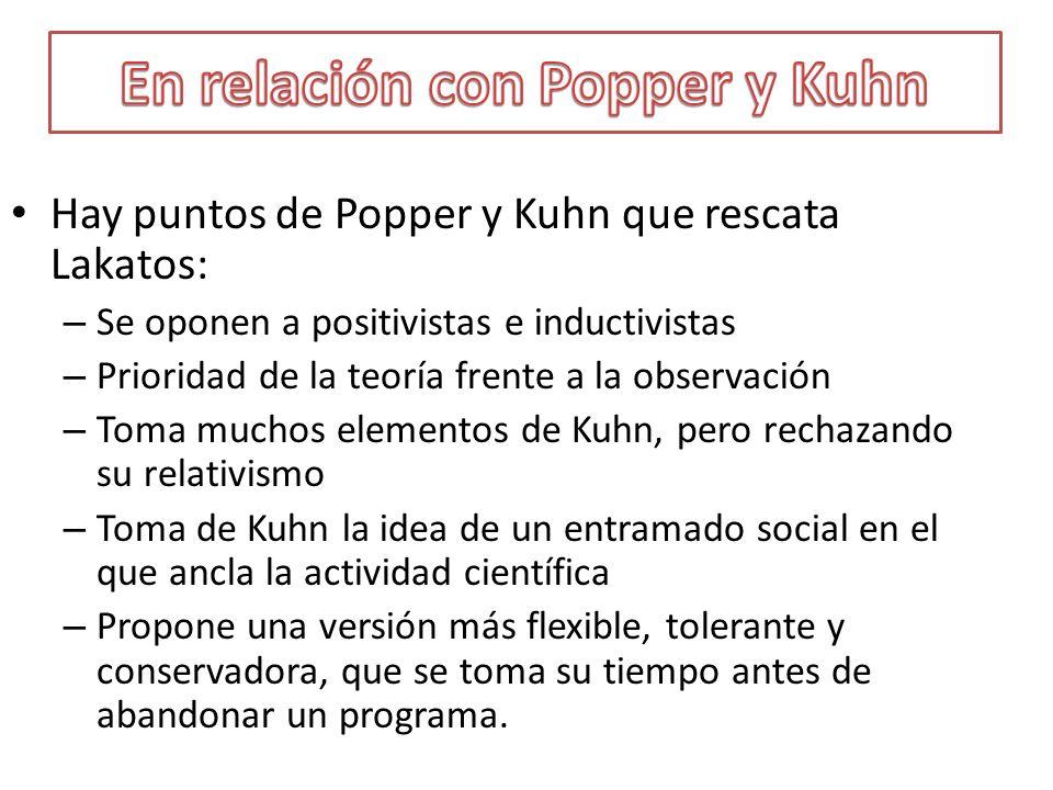 En relación con Popper y Kuhn
