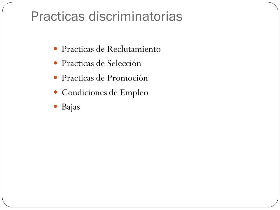 Practicas discriminatorias