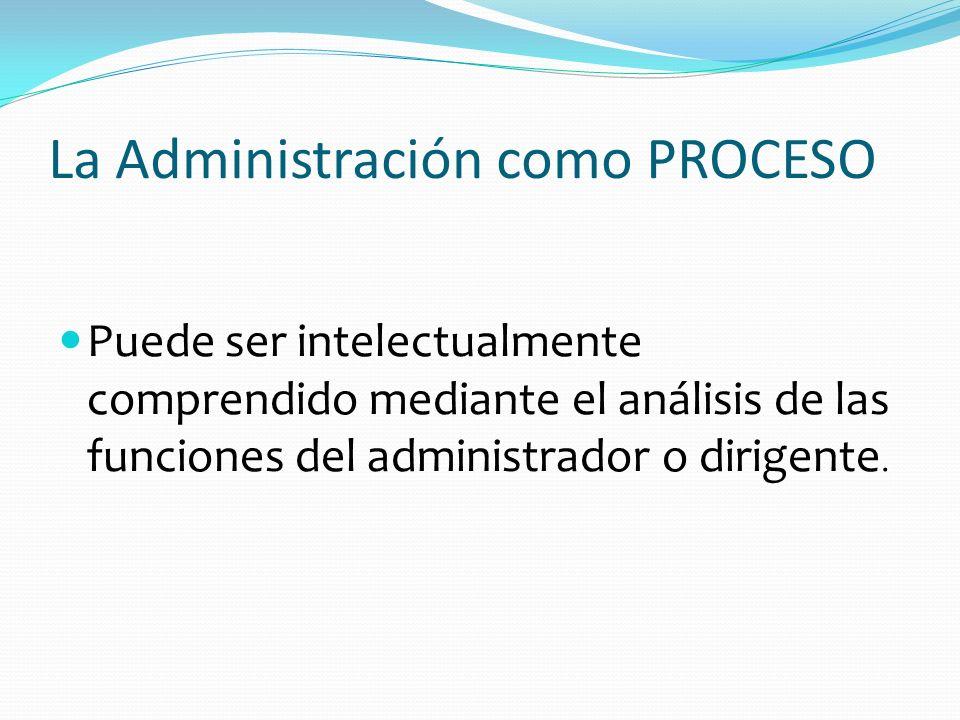 La Administración como PROCESO