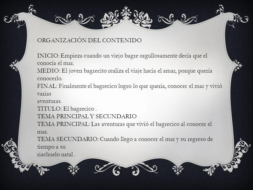 ORGANIZACIÓN DEL CONTENIDO