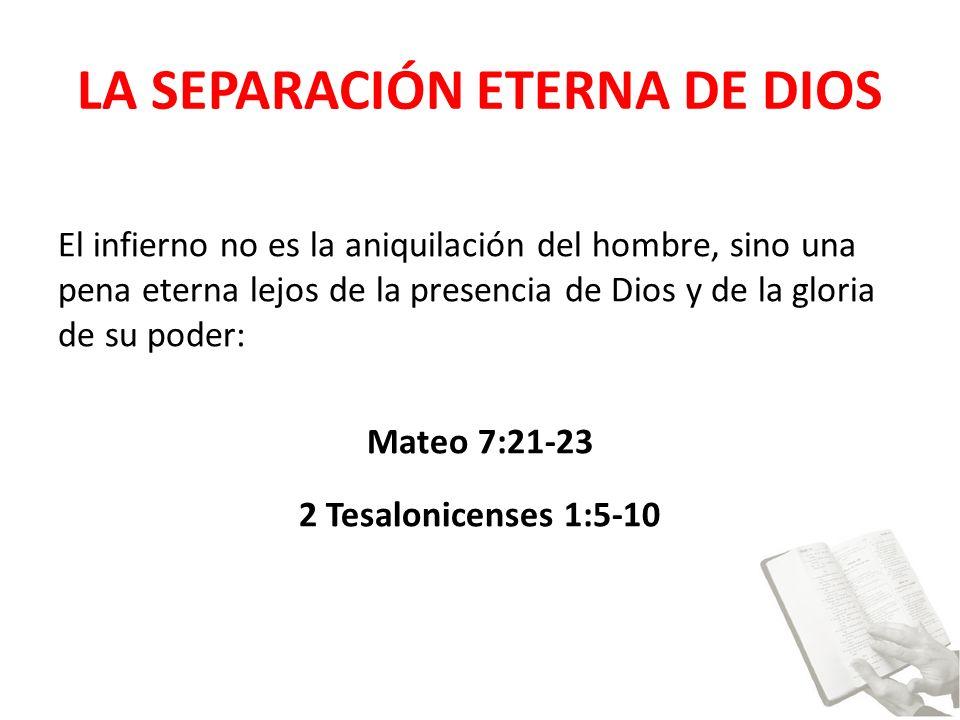 LA SEPARACIÓN ETERNA DE DIOS