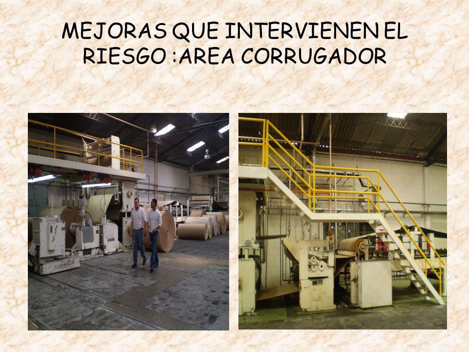 MEJORAS QUE INTERVIENEN EL RIESGO :AREA CORRUGADOR