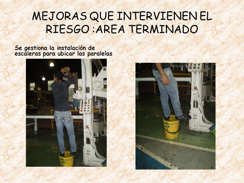 MEJORAS QUE INTERVIENEN EL RIESGO :AREA TERMINADO