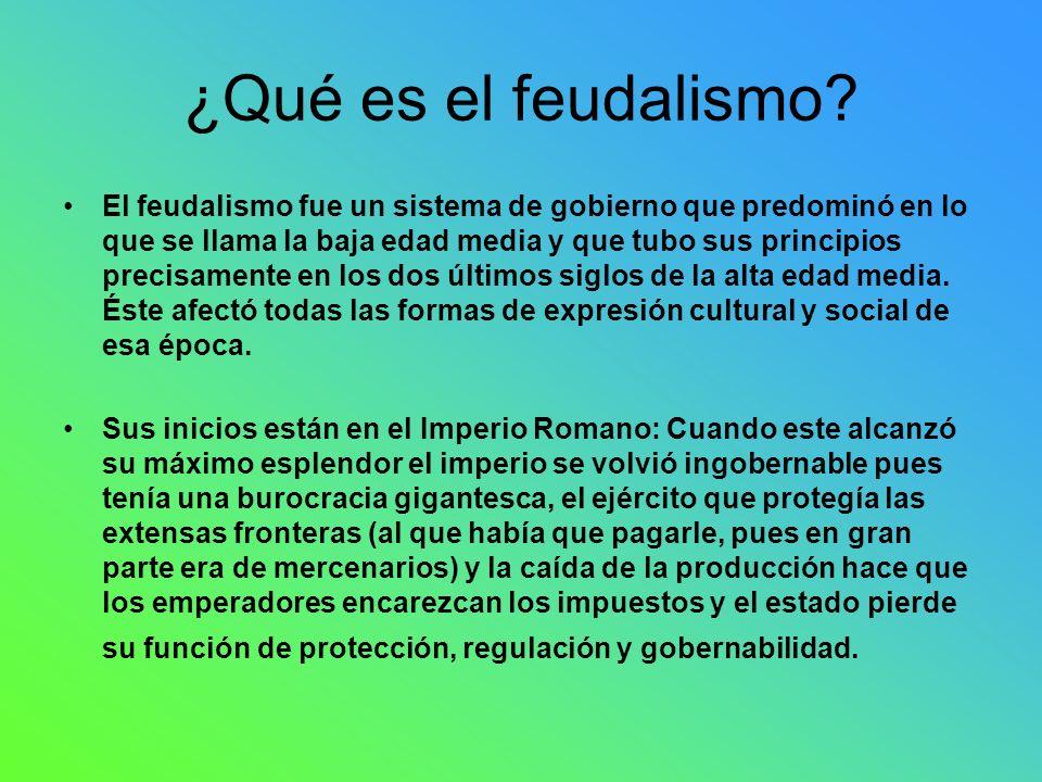¿Qué es el feudalismo