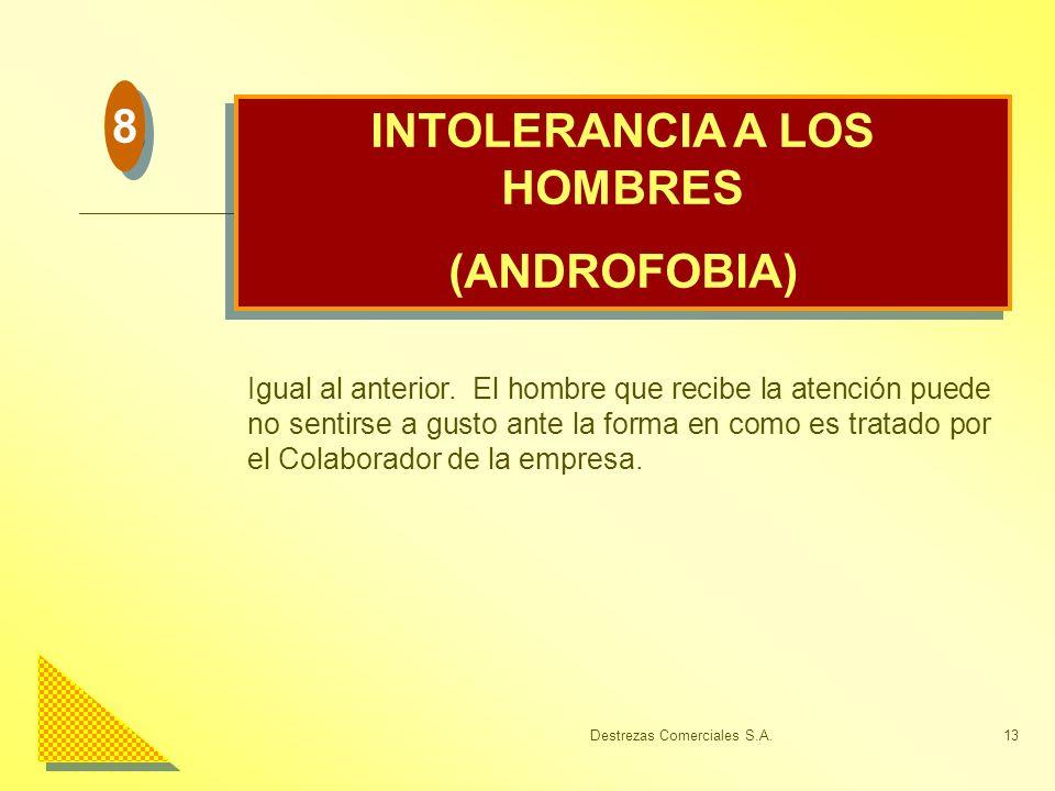 INTOLERANCIA A LOS HOMBRES