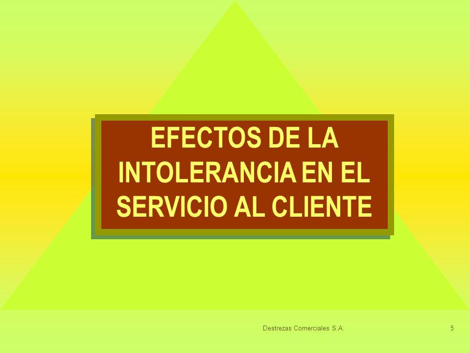 EFECTOS DE LA INTOLERANCIA EN EL SERVICIO AL CLIENTE
